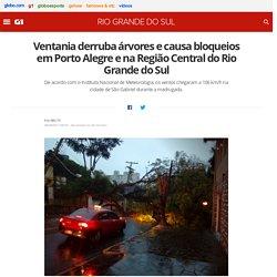 Ventania derruba árvores e causa bloqueios em Porto Alegre e na Região Central do Rio Grande do Sul