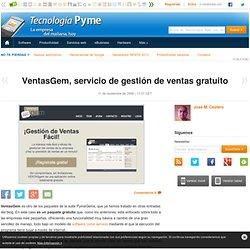 VentasGem, servicio de gestión de ventas gratuito