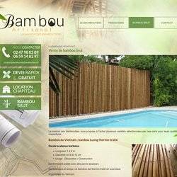 Vente de bambou brut indre et loire - lamaisondesbamboutiers.fr
