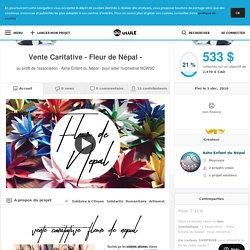 Vente Caritative - Fleur de Népal -