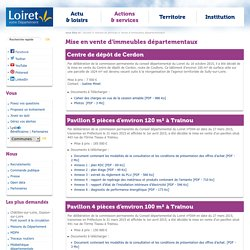 [Département du Loiret] Mise en vente d'immeubles départementaux