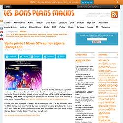 Vente privée Disney Land Paris : moins 50%