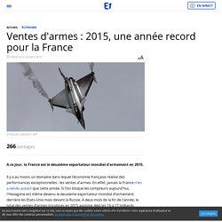 2015 France record des ventes d'armes