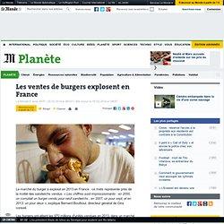 Les ventes de burgers explosent en France
