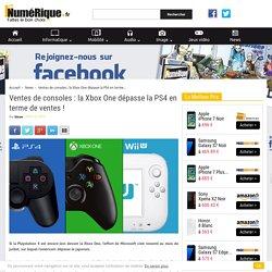 Ventes de consoles : la Xbox One dépasse la PS4 en terme de ventes !