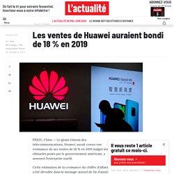 Les ventes de Huawei auraient bondi de 18% en 2019