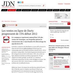 Les ventes en ligne de Darty progressent de 13% début 2012