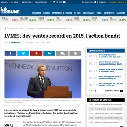LVMH: des ventes record en 2015, l'action bondit