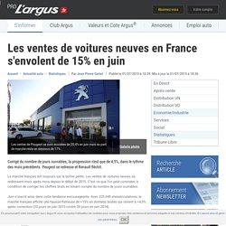 Les ventes de voitures neuves en France s'envolent de 15% en juin – L'argus PRO