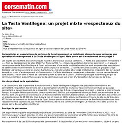La Testa Ventilegne: un projet mixte «respectueux du site»