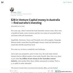$2B in Venture Capital money in Australia — find out who's investing – Medium