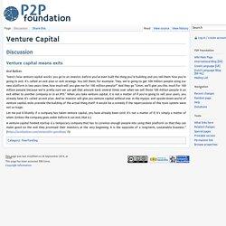 Venture Capital - P2P Foundation