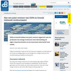 Joint venture DSM en Evonik verduurzaamt viskweek