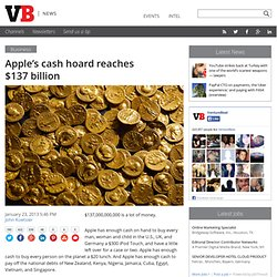 Apple's cash hoard reaches $137 billion