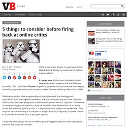 5 things to consider before firing back at online critics