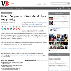 Corporate culture should be a top priority