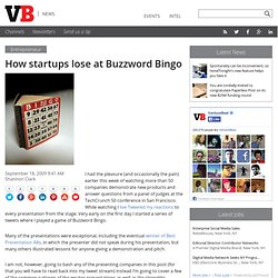 How startups lose at Buzzword Bingo