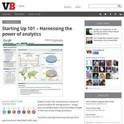 Starting Up 101 – Harnessing the power of analytics | VentureBea