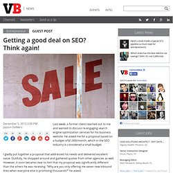 Getting a good deal on SEO? Think again!