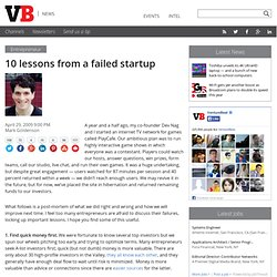 10 lessons from a failed startup