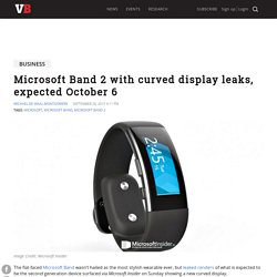 Microsoft Band 2 with curved display leaks, expected October 6