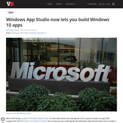 Windows App Studio now lets you build Windows 10 apps