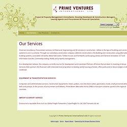 PRIME VENTURES International Ltd. - Our Services