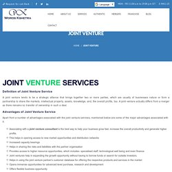 Joint venture service and support