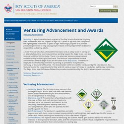 Venturing Advancement — Sam Houston Area Council