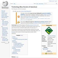 Venturing (Boy Scouts of America)