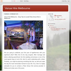 Easy Tips to Hire Function Rooms for Your Next Event in Melbourne!