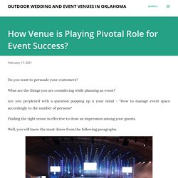 How Venue is Playing Pivotal Role for Event Success?