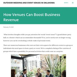 How Venues Can Boost Business Revenue