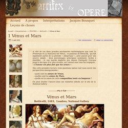 1 Vénus et Mars - Botticelli - objet-limite