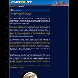 <VENUS2004.ORG> Vénus pourrait abriter la vie