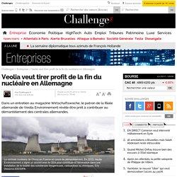 Veolia veut tirer profit de la fin du nucléaire en Allemagne