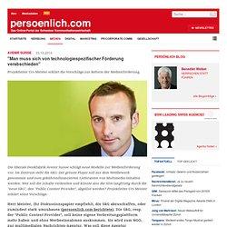 """Avenir Suisse """"Man muss sich von technologiespezifischer Förderung verabschieden"""""""