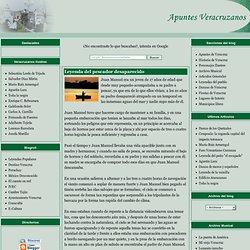 Apuntes Veracruzanos: Leyenda del pescador desaparecido