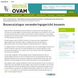 Bouwcatalogus veranderingsgericht bouwen - OVAM