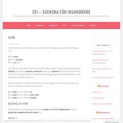 Verb – SFI – Svenska för invandrare
