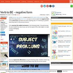 Verb to BE - negative form