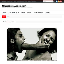 Verbal Abuse, Emotional Abuse and the Narcissist