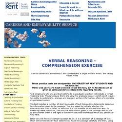 Verbal Reasoning - Comprehension Test