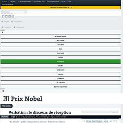 Verbatim: le discours de réception du prix Nobel de Patrick Modiano