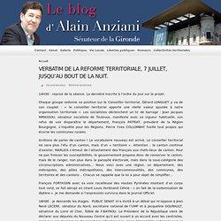 VERBATIM DE LA REFORME TERRITORIALE, 7 JUILLET, JUSQU'AU BOUT DE LA NUIT.