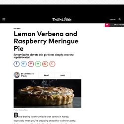 Lemon Verbena and Raspberry Meringue Pie