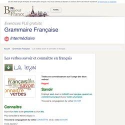 Les verbes savoir et connaître en français
