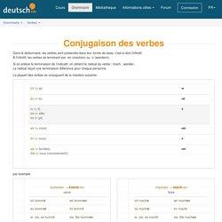 Verbes / Grammaire - deutsch.info