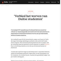 'Verbied het werven van Duitse studenten'