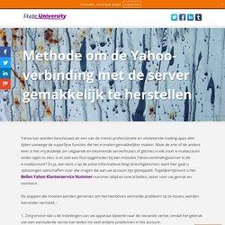 Methode om de Yahoo-verbinding met de server gemakkelijk te herstellen